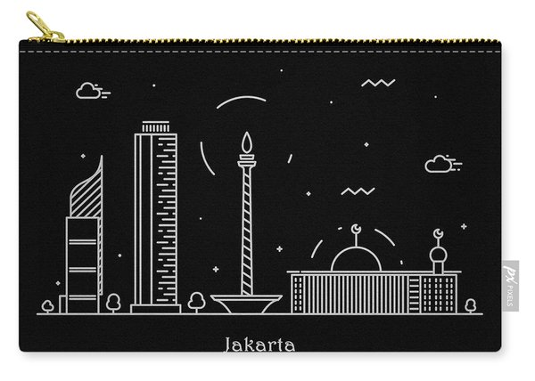 Jakarta Skyline Travel Poster Carry-all Pouch