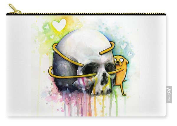 Jake The Dog Hugging Skull Adventure Time Art Carry-all Pouch