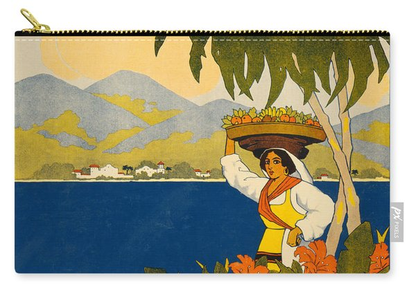 Jamaica  Vintage Travel Poster Carry-all Pouch