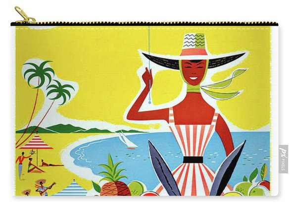 Jamaica, West Indies, Vintage Travel Poster Carry-all Pouch