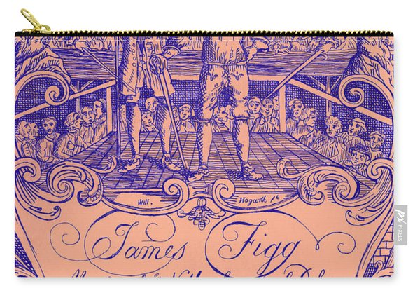 James Figg Advertisement By William Hogarth, Colorized Carry-all Pouch