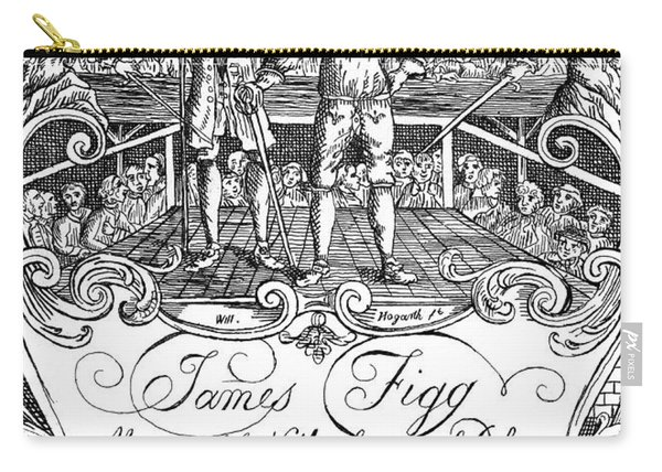 James Figg  Advertisement By William Hogarth Carry-all Pouch