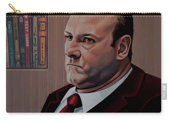 James Gandolfini Painting Carry-all Pouch