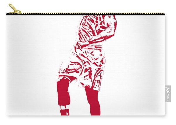 James Harden Houston Rockets Pixel Art 2 Carry-all Pouch