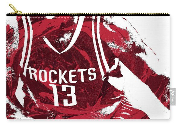James Harden Houston Rockets Pixel Art 3 Carry-all Pouch