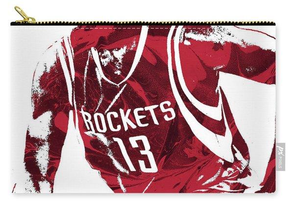 James Harden Houston Rockets Pixel Art 4 Carry-all Pouch