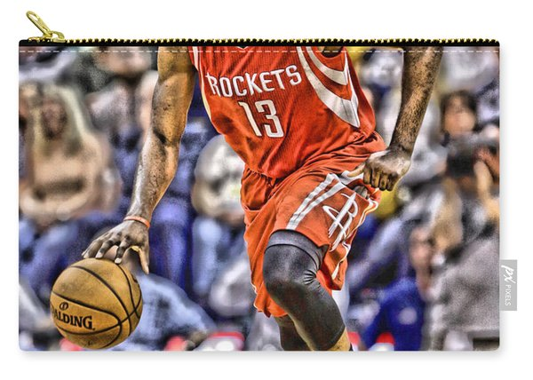James Harden Houston Rockets Players Art 1 Carry-all Pouch