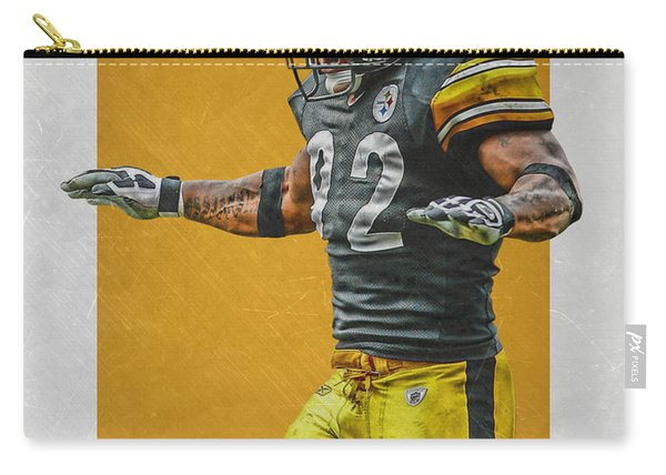 James Harrison Pittsburgh Steelers Art 2 Carry-all Pouch