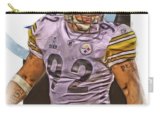 James Harrison Pittsburgh Steelers Oil Art Carry-all Pouch