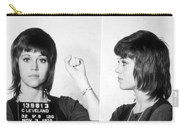 Jane Fonda Mug Shot Horizontal Carry-all Pouch