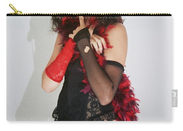 Janet Weiss During A Rhps Performance 2 Carry-all Pouch