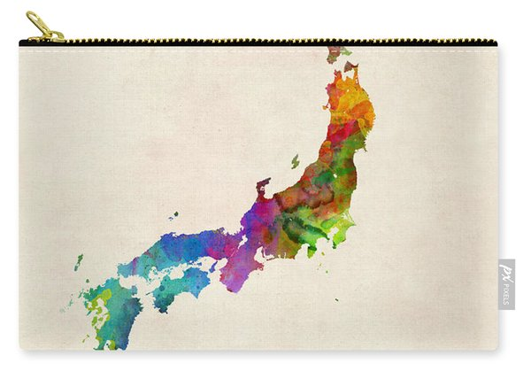 Japan Watercolor Map Carry-all Pouch