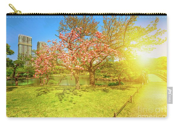 Japanese Garden Cherry Blossom Carry-all Pouch