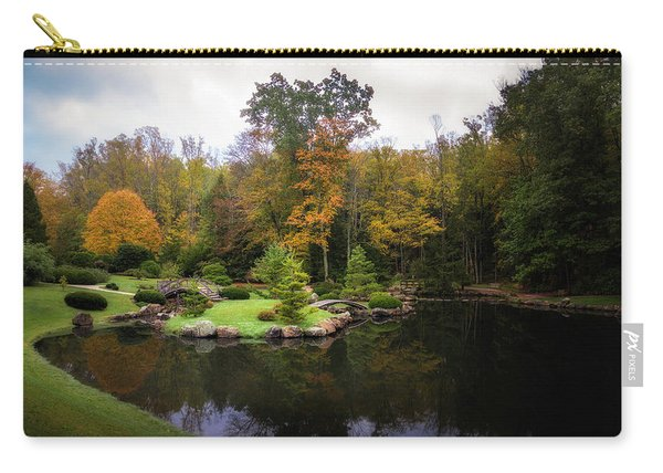 Japanese Garden In Early Autumn Carry-all Pouch