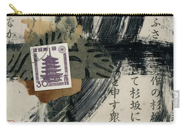Japanese Horyuji Temple Collage Carry-all Pouch