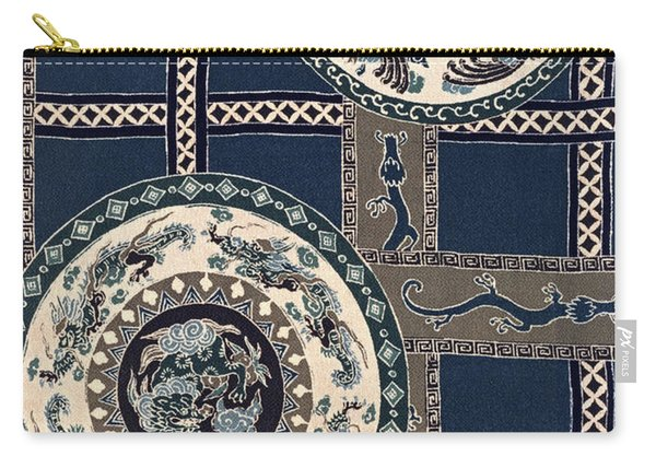 Japanese Style Phoenix And Dragon Modern Interior Art Painting. Carry-all Pouch