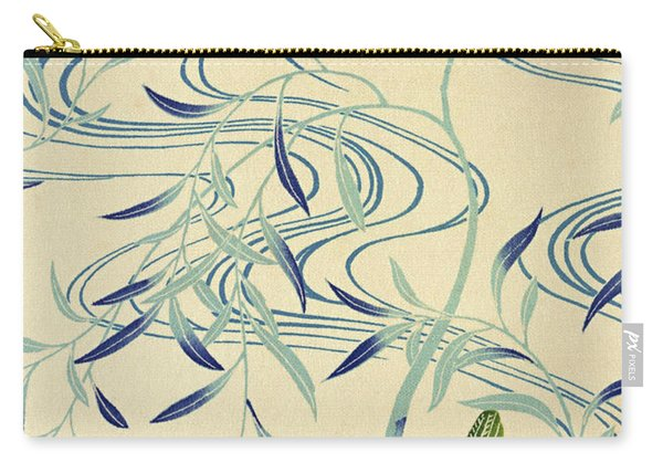 Japanese Style River And Nightingale Modern Interior Art Painting. Carry-all Pouch
