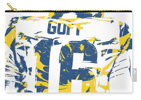Jared Goff Los Angeles Rams Pixel Art 2 Carry-all Pouch