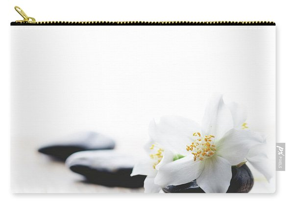 Jasmine Flower On Spa Stones Carry-all Pouch