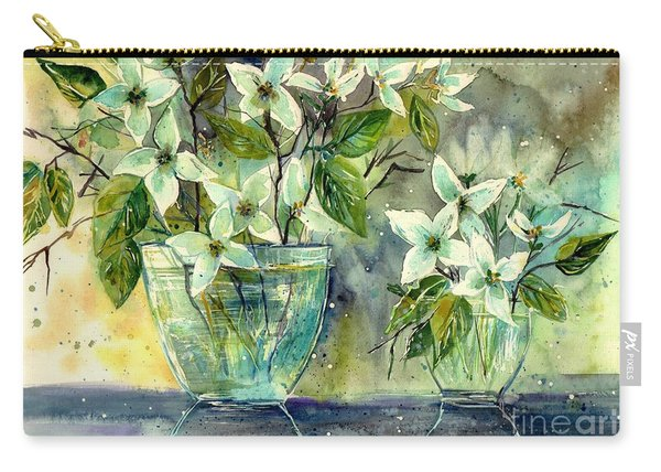 Jasmine In Glass Carry-all Pouch