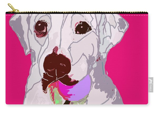 Jax With Ball In Pink Carry-all Pouch