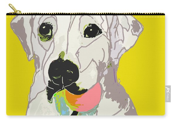 Jax With Ball In Yellow Carry-all Pouch