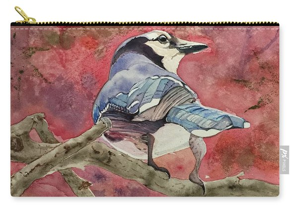 Jay In The Japanese Maple Carry-all Pouch