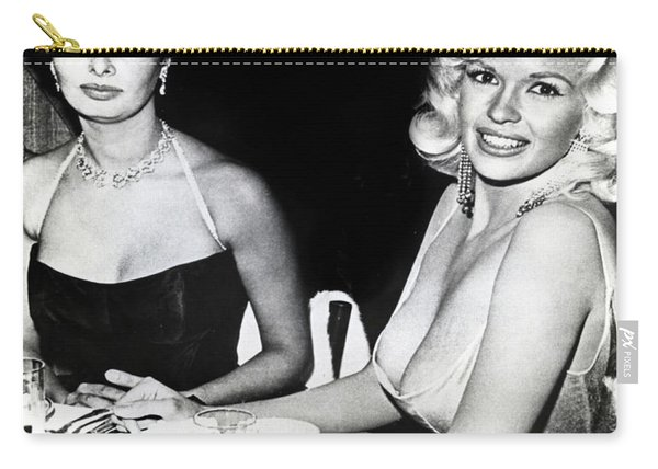 Jayne Mansfield Hollywood  Actress Sophia Loren 1957 Carry-all Pouch