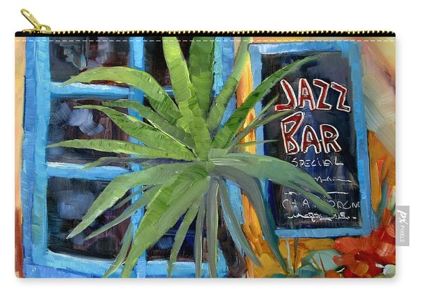 Jazz Bar In Santorini Carry-all Pouch