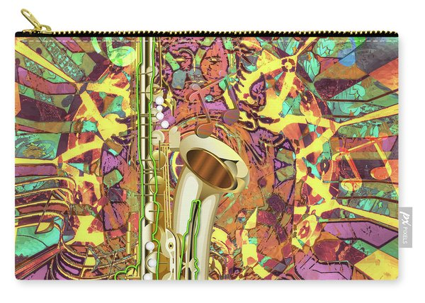Carry-all Pouch featuring the digital art Jazz Me Up by Eleni Mac Synodinos