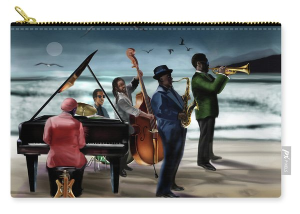 Jazz The Cool Of The Ocean Carry-all Pouch