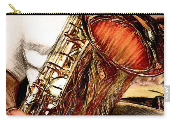 Jazzy Sax Carry-all Pouch