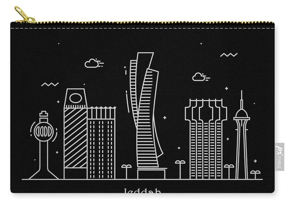 Jeddah Skyline Travel Poster Carry-all Pouch