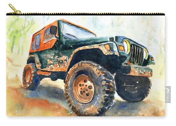 Jeep Wrangler Watercolor Carry-all Pouch