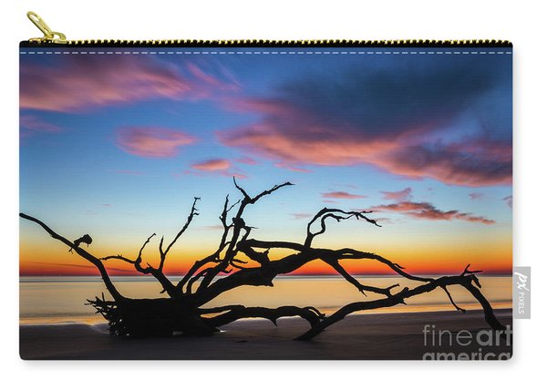 Jekyll Island Sunrise On Driftwood Beach Carry-all Pouch