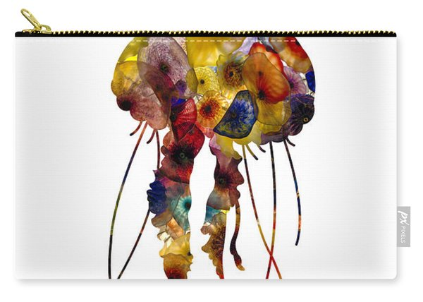 Carry-all Pouch featuring the photograph Jellyfish by Michael Colgate