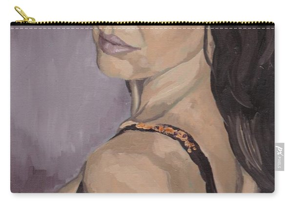 Jenny In Black Carry-all Pouch