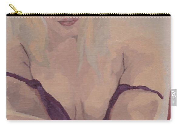 Jenny In Purple Carry-all Pouch