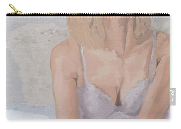 Jenny In White Carry-all Pouch