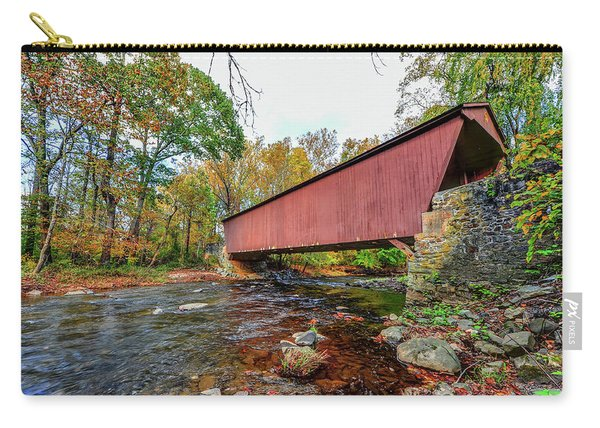 Jericho Covered Bridge In Maryland During Autumn Carry-all Pouch
