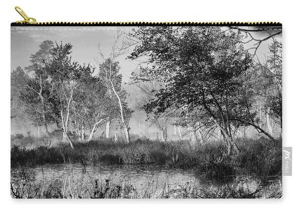 Jersey Pine Lands In Black - White Carry-all Pouch
