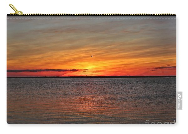 Jersey Shore Sunset Hdr Carry-all Pouch