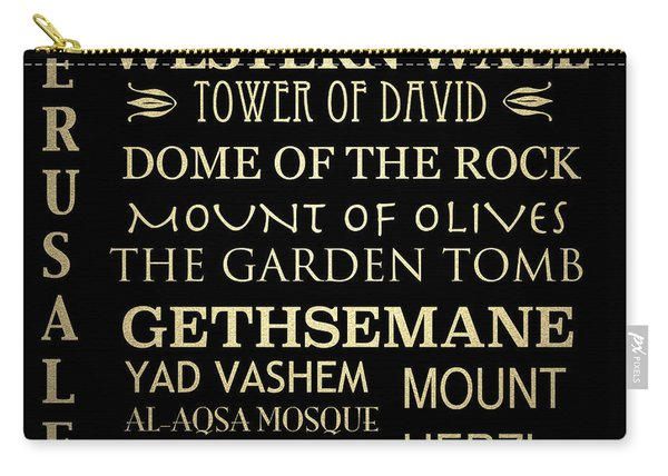 Jerusalem Famous Landmarks Carry-all Pouch