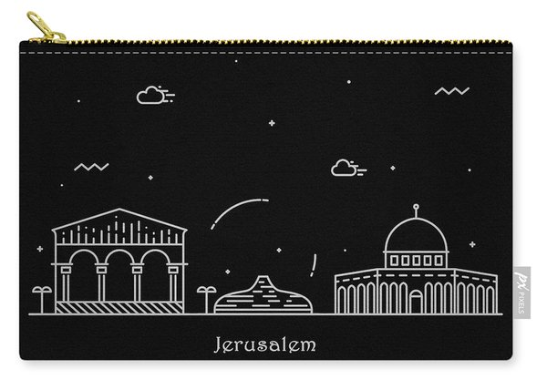Jerusalem Skyline Travel Poster Carry-all Pouch
