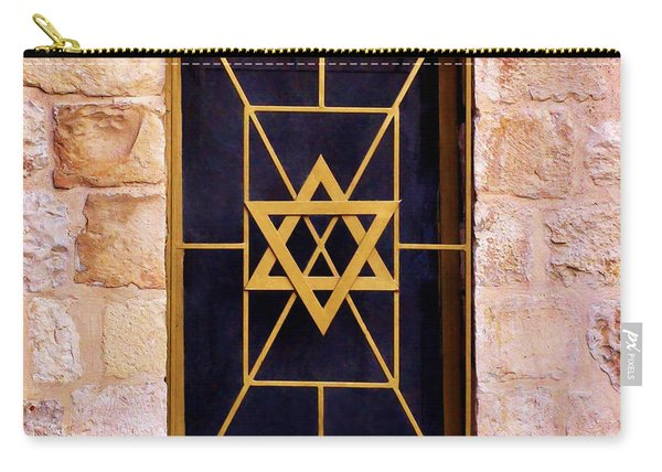 Jerusalem Window On Mt. Zion Israel Carry-all Pouch