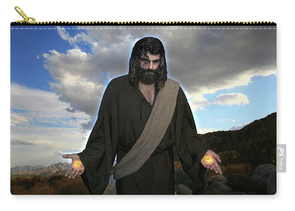 Jesus Christ- And He Withdrew Himself Into The Wilderness And Prayed Carry-all Pouch