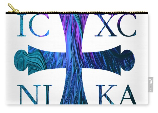 Jesus Christ Victor Cross With Sunrise Reflection Fractal Abstract Carry-all Pouch