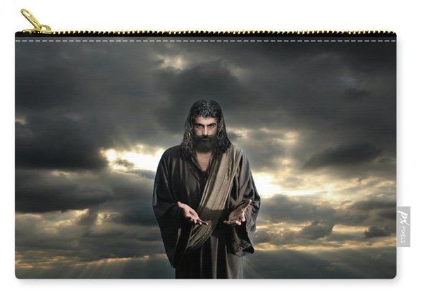 Jesus In The Clouds With Glory Carry-all Pouch