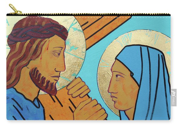 Jesus Meets His Mother Carry-all Pouch