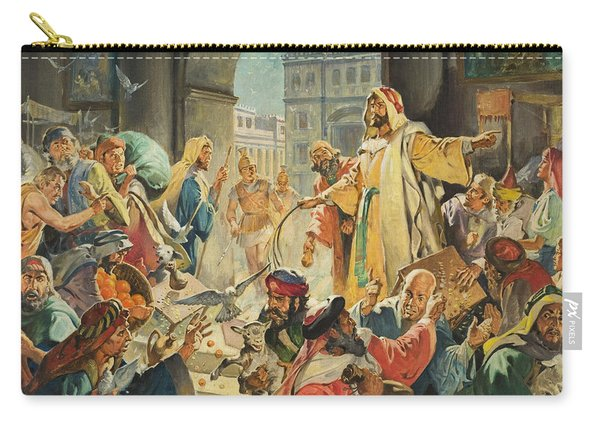 Jesus Removing The Money Lenders From The Temple Carry-all Pouch